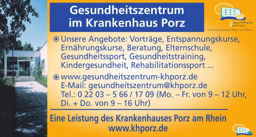 Gesundheitszentrum im Krankenhaus Porz