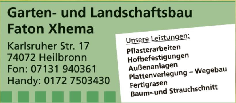 Garten- und Lanschaftsbau Faton Xhema