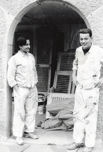 Die Anfangszeit: Wilhelm Widmann (rechts) als Lehrling.