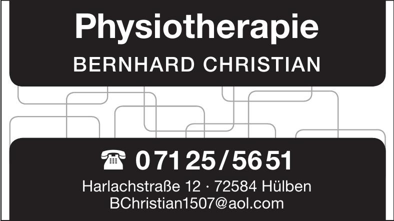 Physiotherapie BERNHARD CHRISTIAN