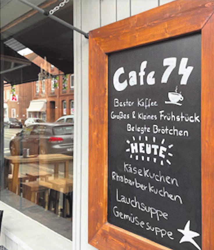 Café 74 - die kleine Oase in Badenstedt mit dem besonderen Service.