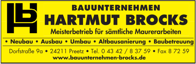 Hartmut Brocks • Bauunternehmen