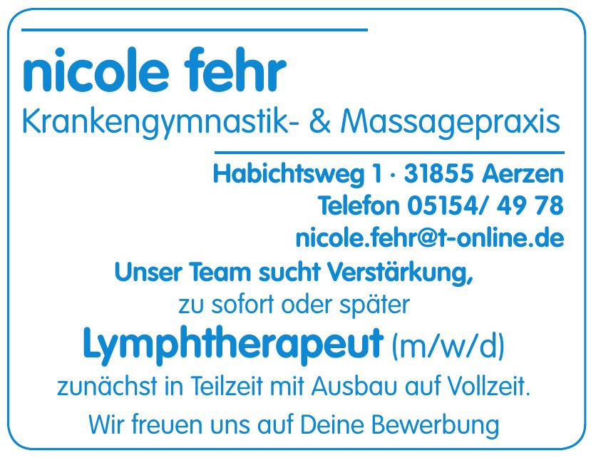 Nicole Fehr Krankengymnastik- & Massagepraxis