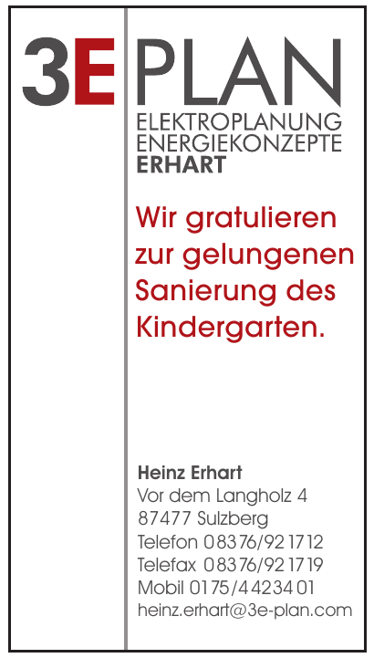 3E Plan, Heinz Erhart