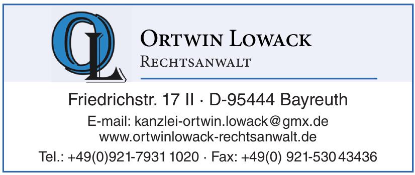 Ortwin Lowack Rechtsanwalt