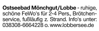 Ostseebad Mönchgut/Lobbe