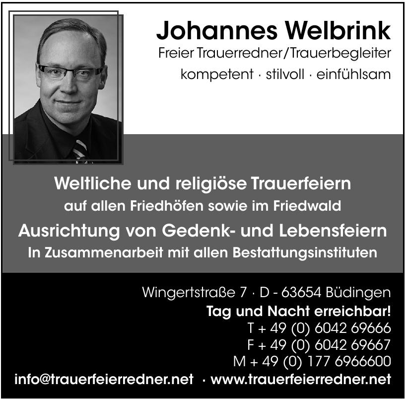 Trauerredner Johannes Welbrink