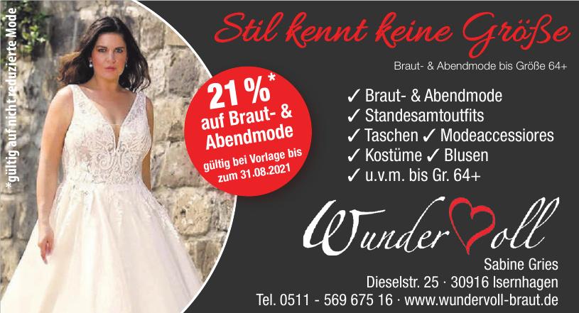 Braut- & Abendmode Wundervoll