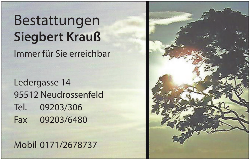 Bestattungen Siegbert Krauß