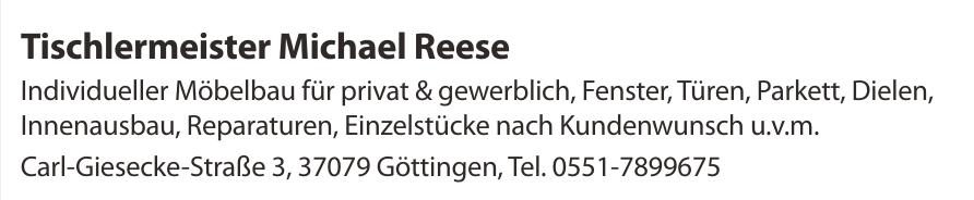 Tischlermeister Michael Reese