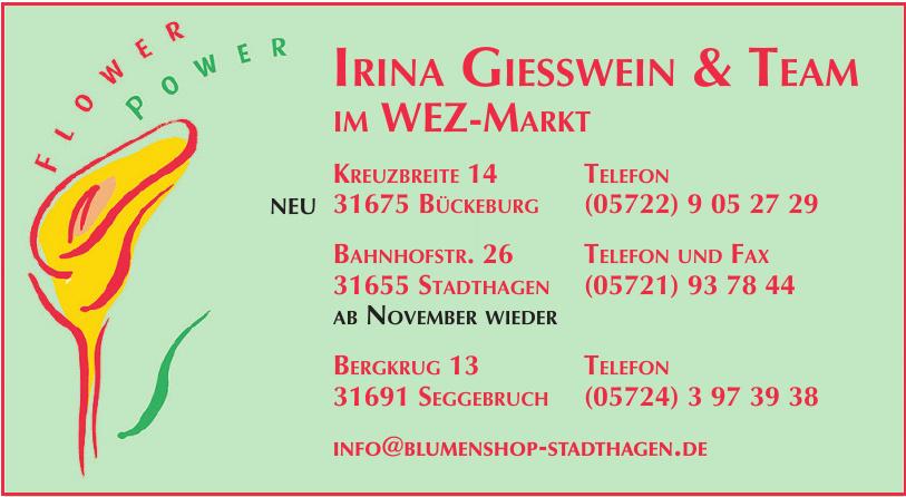 Flower power Irina Giesswein & Team im Wez-Markt