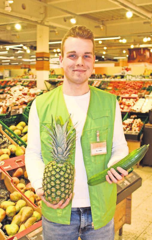 Niklas Hitzer, Abteilung Obst und Gemüse, 1. Lehrjahr.