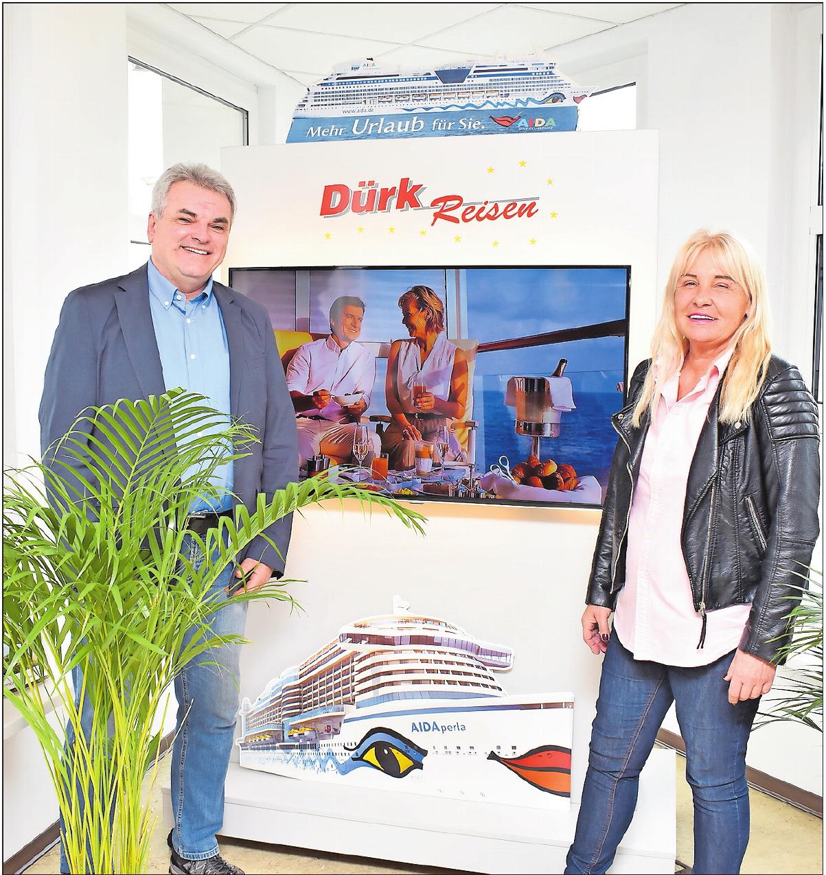Führen das 1974 von Benno Dürk gegründete Unternehmen: Bernhard und Maria Dürk.FOTO: SCHENK