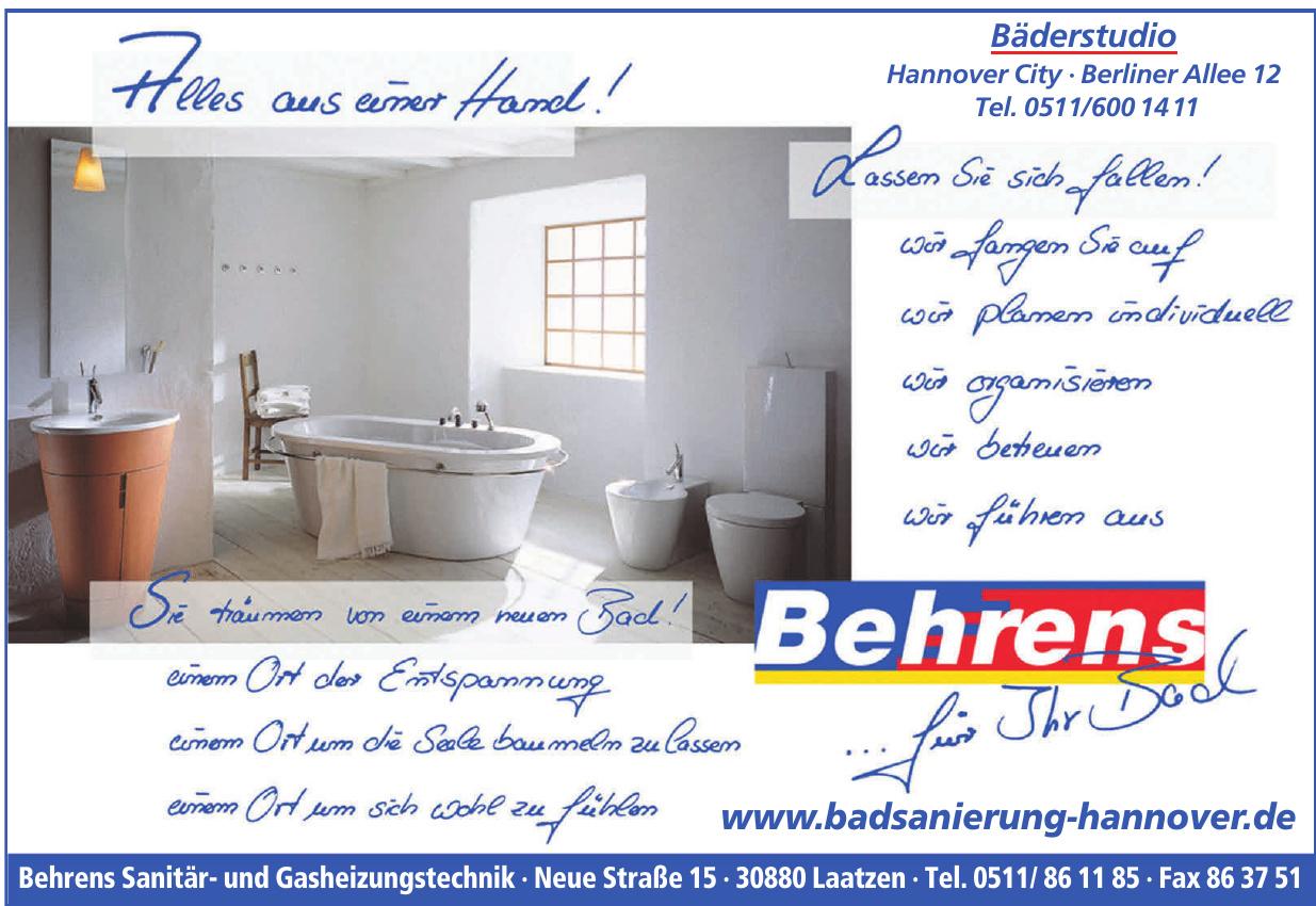 Behrens Sanitär- und Gasheizungstechnik