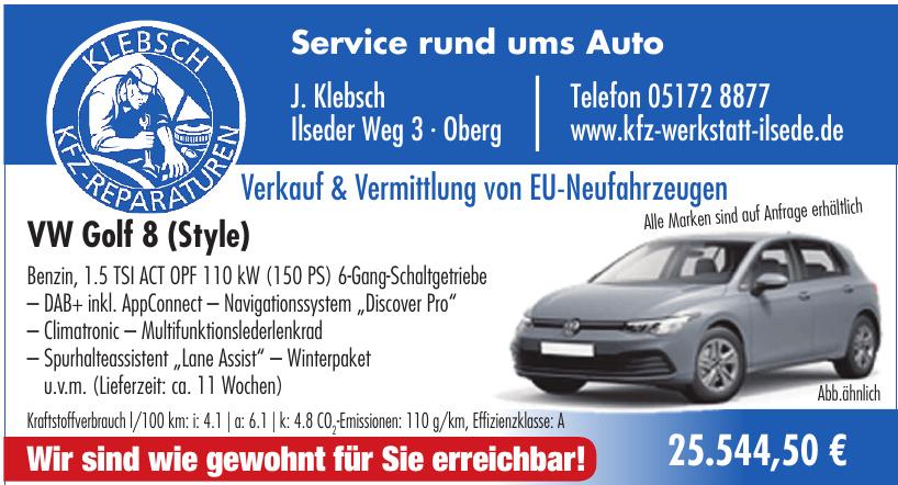 J. Klebsch Service rund ums Auto