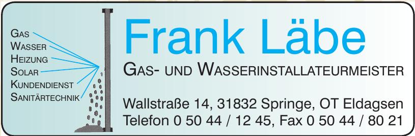 Frank Läbe Gas- und Wasserinstallateurmeister