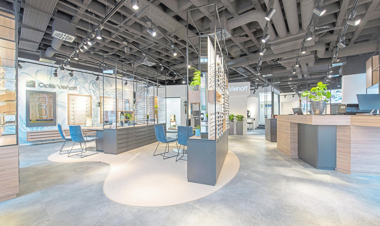 Neues Ladenbaukonzept: Hochmodernes Design und weiches Licht sorgen für eine angenehme Wohlfühlatmosphäre.