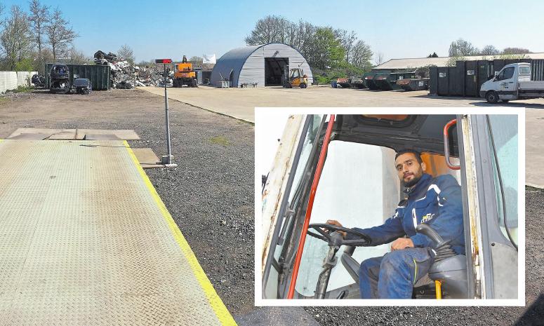 Seit drei Monaten existiert das Unternehmen MSR| Münsterland Schrott Recycling von Ahmad Al Kraidy (kl. Foto). Foto: privat