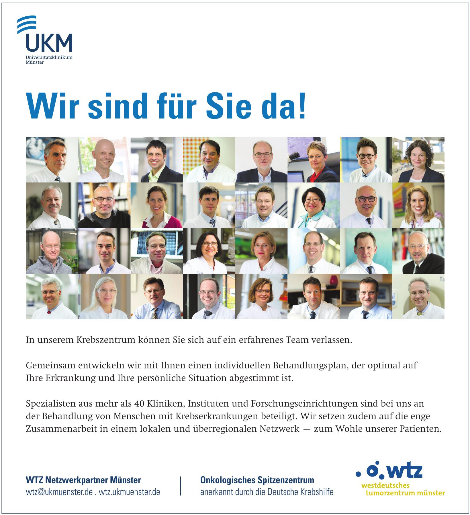 WTZ Netzwerkpartner Münster - Onkologisches Spitzenzentrum