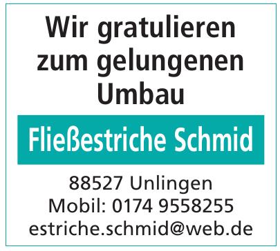 Fließestriche Schmid