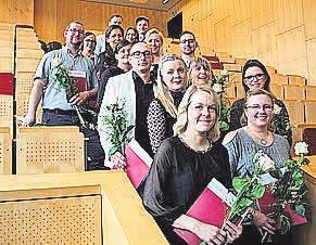 Die Absolventen der Fachweiterbildung für Intensivpflege. FOTO: UNIMEDIZIN ROSTOCK