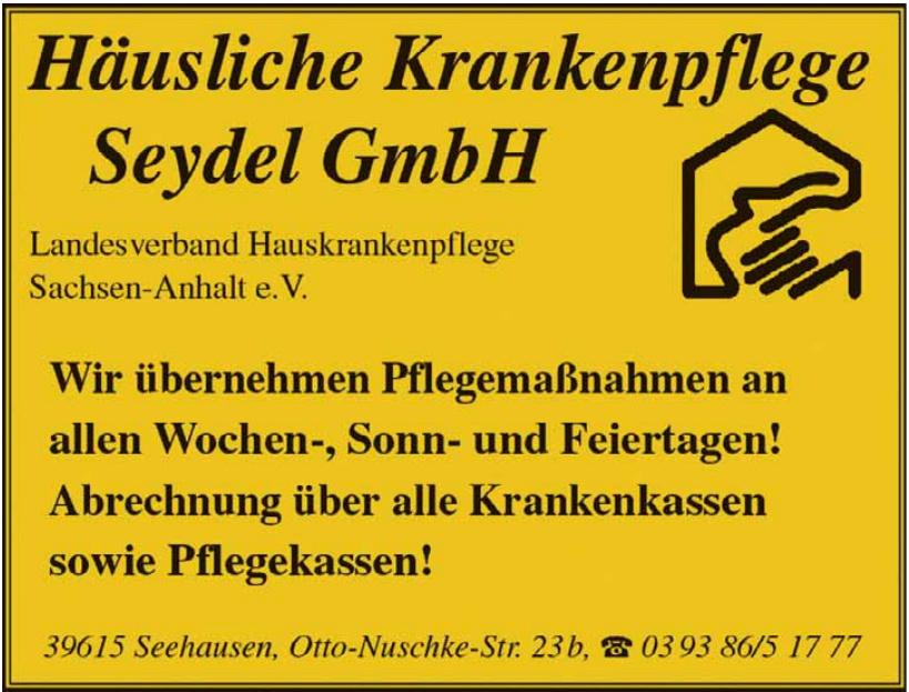 Häusliche Krankenpflege Seydel GmbH