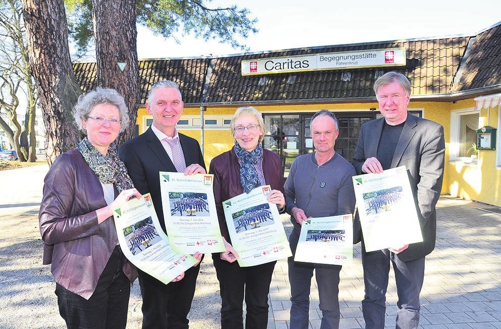 Werben gemeinsam für das Wohltätigkeitskonzert: Christine Köhler-Riebau, Thorsten Rückert, Barbara-Maria Cromberg, Marcus Musiol und Ralf-Werner Günther.