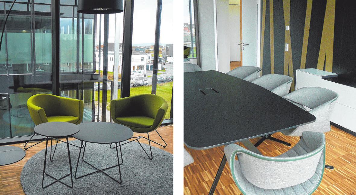 Moderne und helle Räume schaffen ein freundliches Arbeitsumfeld.