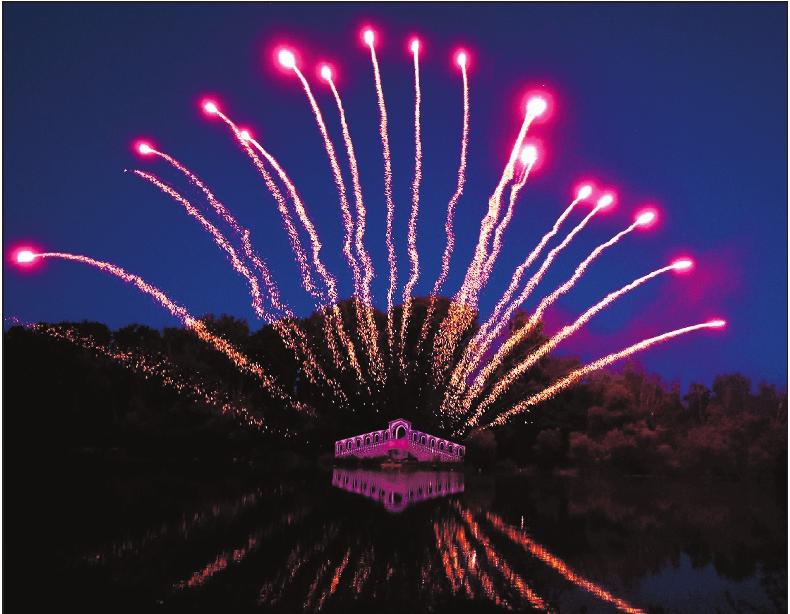 Wunderschön: Feuerwerk über der Rialtobrücke. ARCHIVFOTO: BOLTE