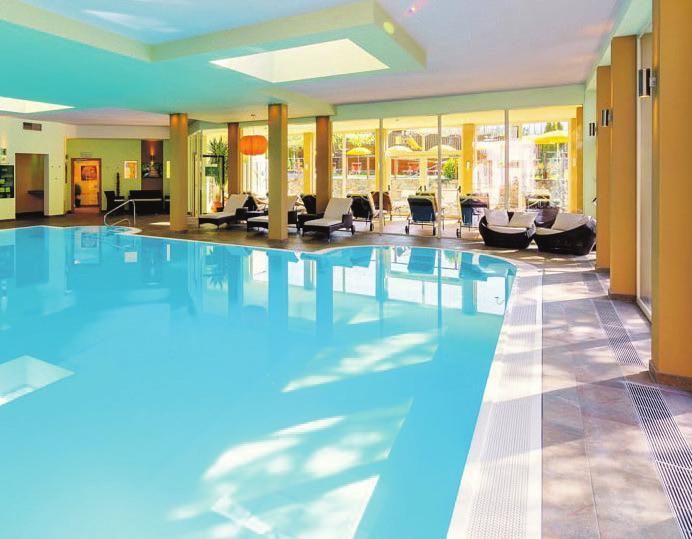 Großzügiger Wellnessbereich. Foto: Hotel Waldhof