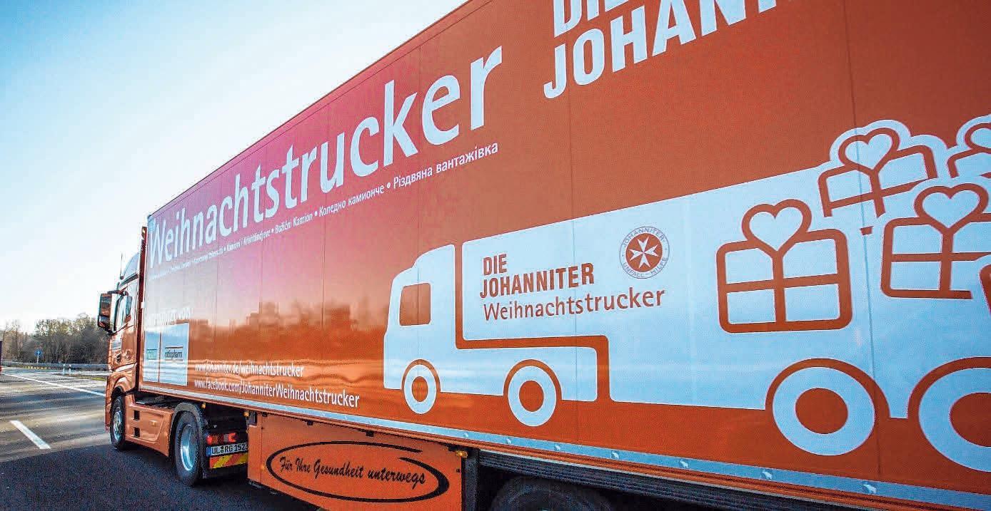 Die Weihnachtstrucker der Johanniter sind wieder unterwegs. FOTO: OH