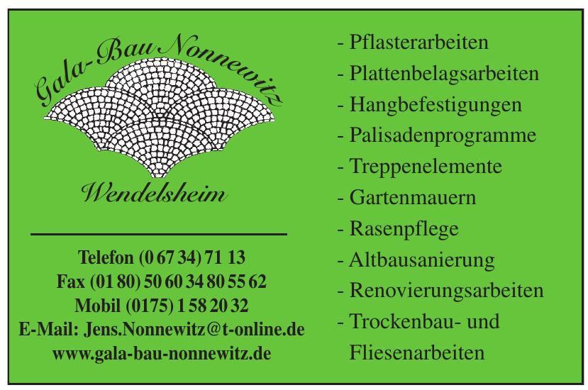 Gala Bau Nonnewitz Wendelsheim