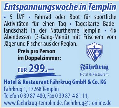 Hotel & Restaurant Fährkrug GmbH & Co. KG