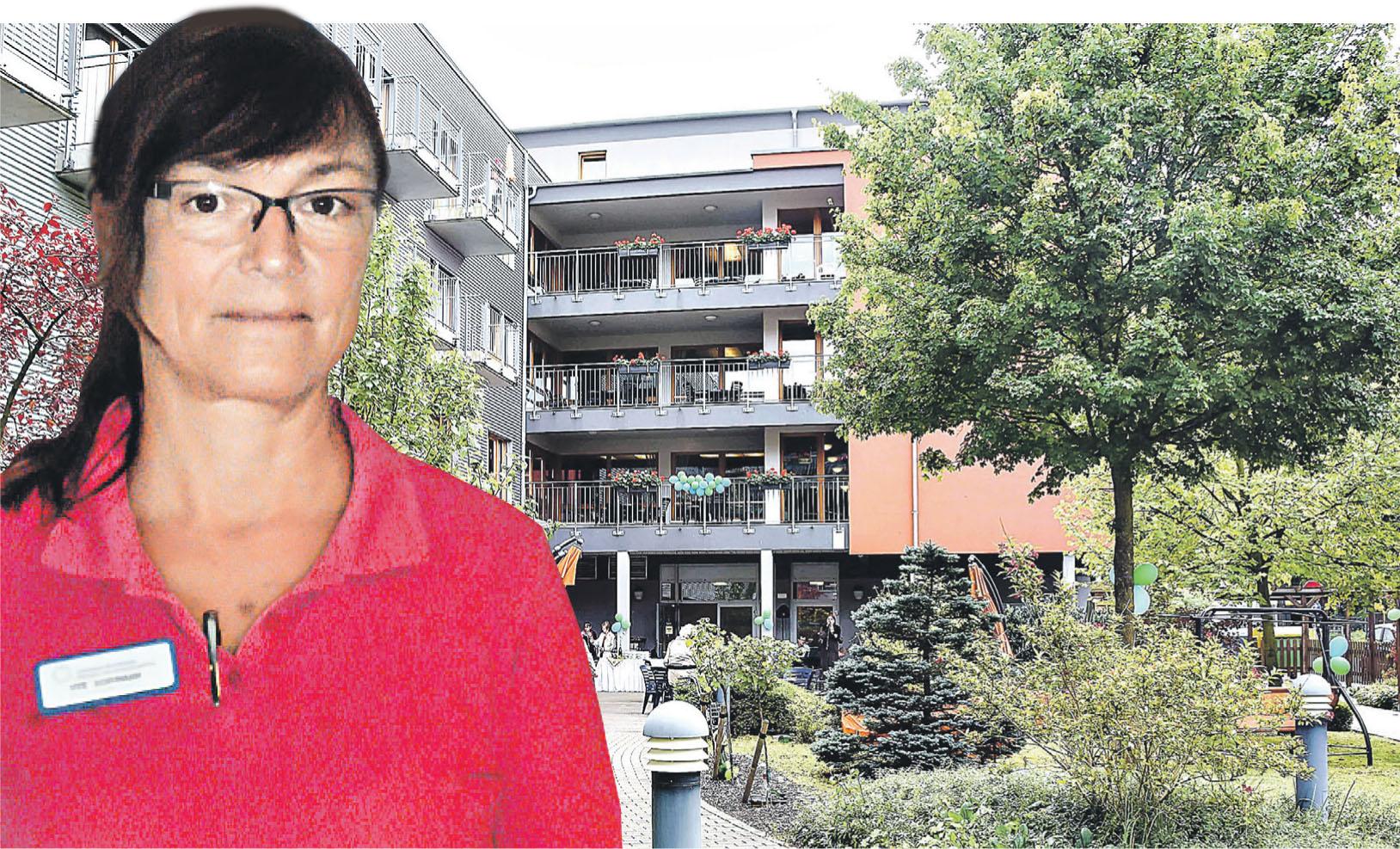 """Uta Schumann arbeitet als Pflegekraft im Senioren-Wohnpark Dresden """"Am Großen Garten"""". Den Einstellungsprozess und den Start am neuen Arbeitsplatz hat sie als äußerst professionell und angenehm empfunden"""
