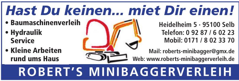 Robert's Minibaggerverleih