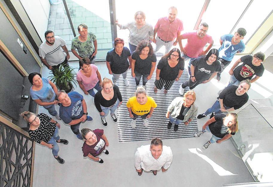 """Hinter """"biss.art"""" steht ein vergleichsweise großes Team: 33 kompetente Mitarbeiter stehen für Qualität. Fotos: thor"""