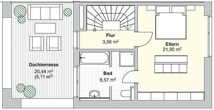 Haustyp A Grundriss Dachgeschoss