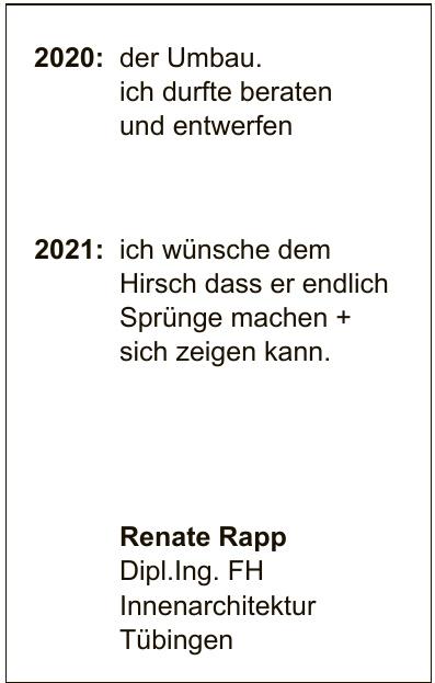 Renate Rapp Dipl. Ing. FH Innenarchitektur Tübingen