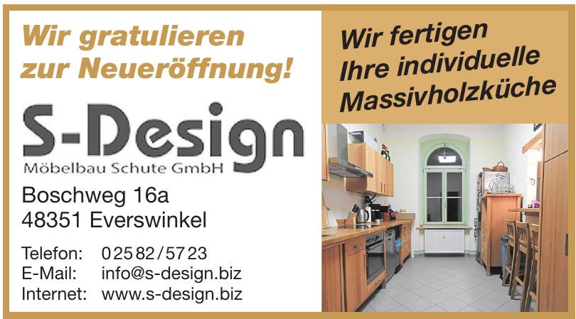 S-Design Möbelbau Schulte GmbH
