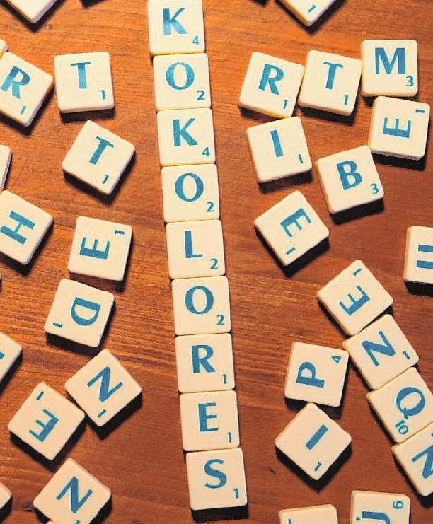 """Wann haben Sie zuletzt das Wort """"Kokolores"""" verwendet? Am ehesten vielleicht beim Spiel """"Scrabble""""."""