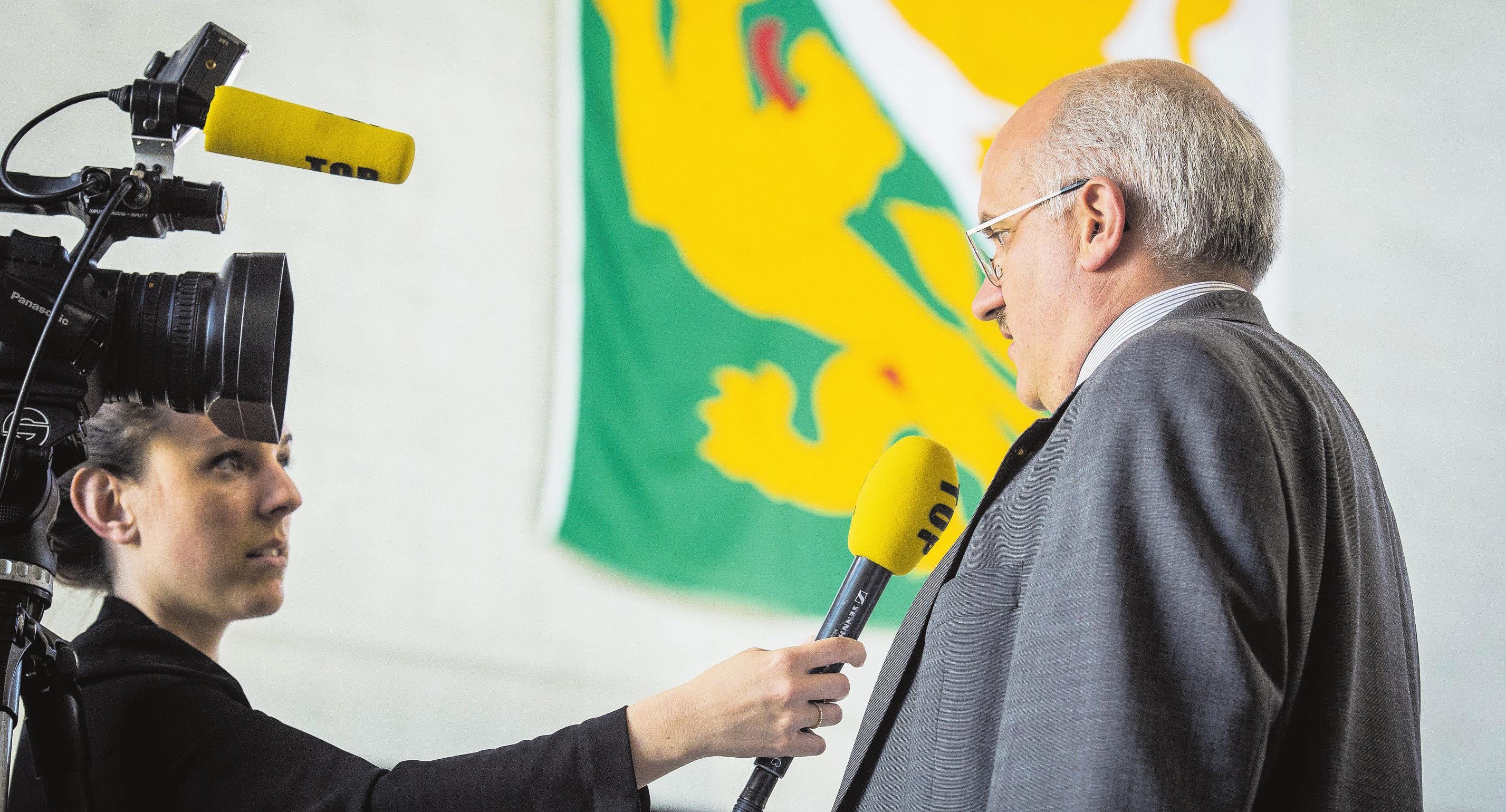 Muss er am 20. Oktober einen Sitzverlust erklären? Ruedi Zbinden, Präsident der SVP Thurgau. Bild: Reto Martin