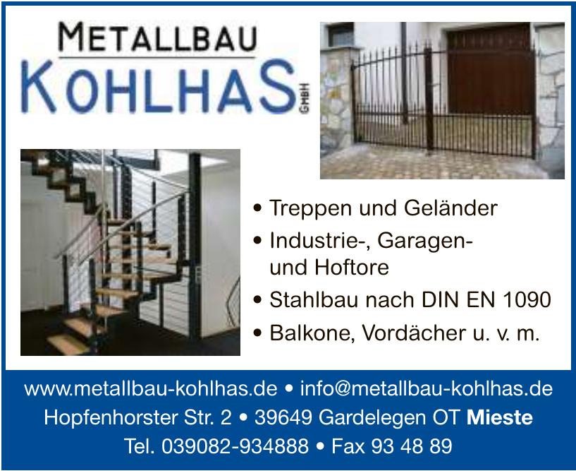 Metallbau Kohlhas