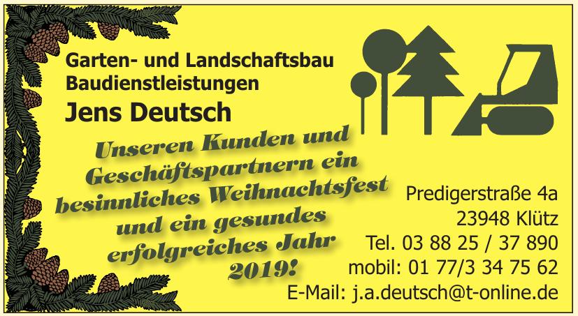 Garten- und Landschaftsbau Baudienstleistungen Jens Deutsch