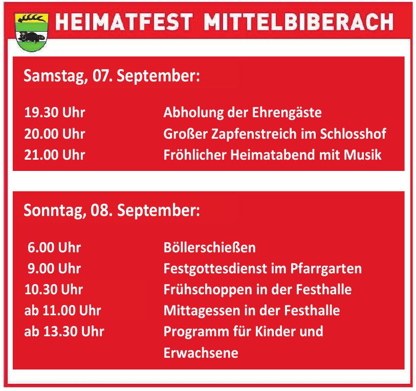Heimatfest Mittelbiberach