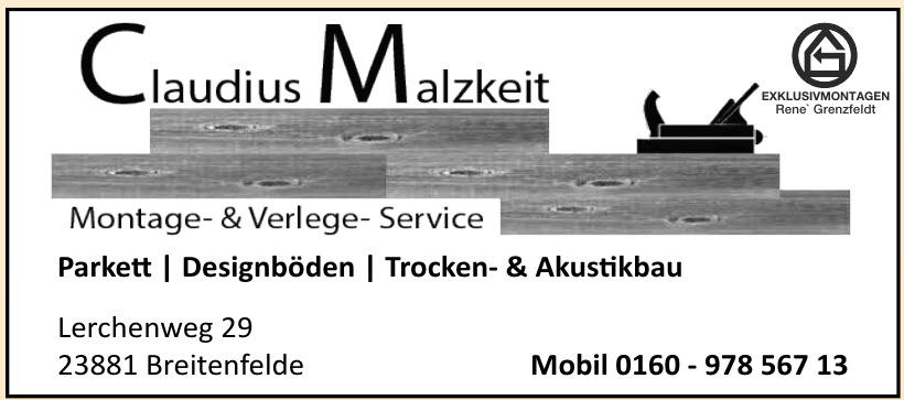 Claudius Malzkeit Montage- & Verlege-Service
