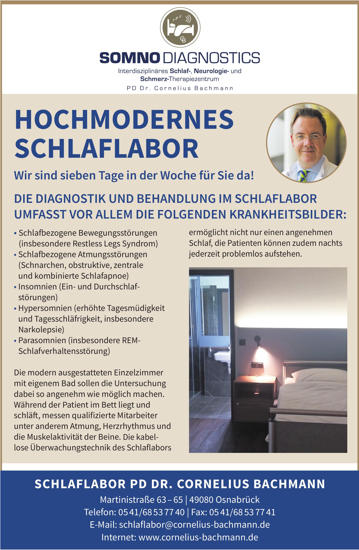 Schlaflabor Pd Dr. Cornelius Bachmann