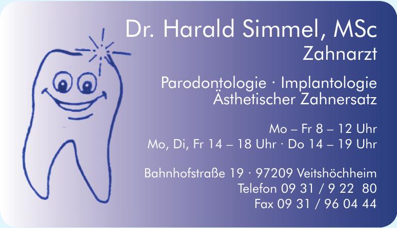 Dr. Harald Simmel, MSc Zahnarzt