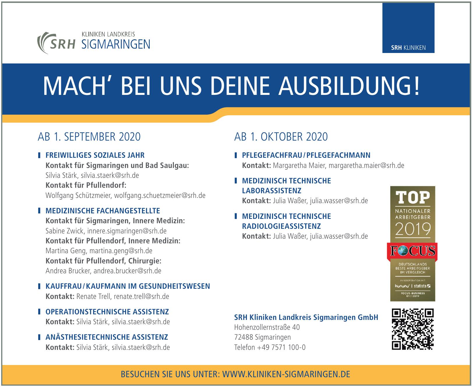 SRH Kliniken Landkreis Sigmaringen GmbH