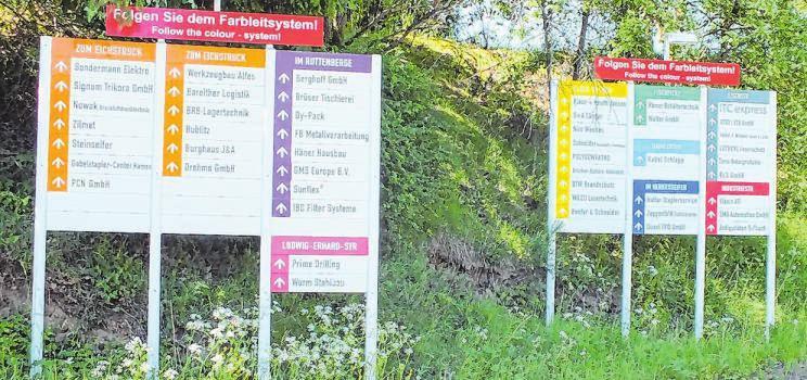 """Die Gemeinde Wenden hat sich etwas einfallen lassen, um die Besucher der """"Mark"""" schnell an das Ziel ihrer Wahl zu führen."""