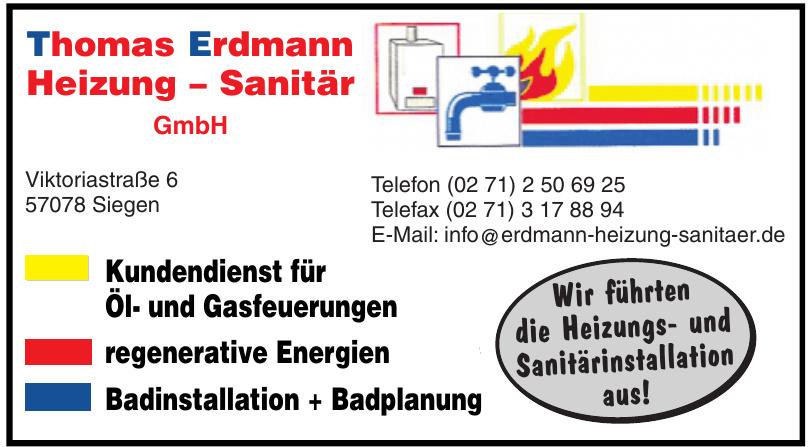 Thomas Erdmann Heizung – Sanitär GmbH